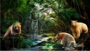 Spirit Bears ~ Fractal Art by Duane Red Wolf Miles