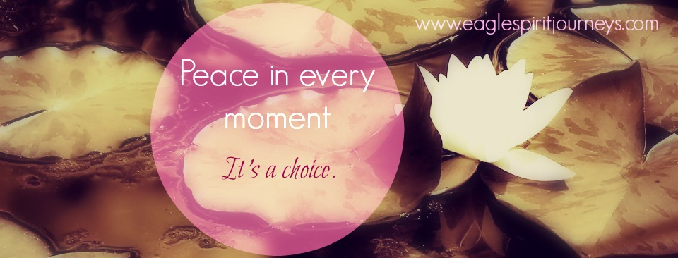 Peace in every moment. Its a choice